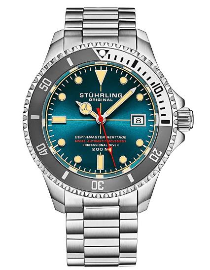 "10.Stuhrling Professional ""Depthmaster"" watch"